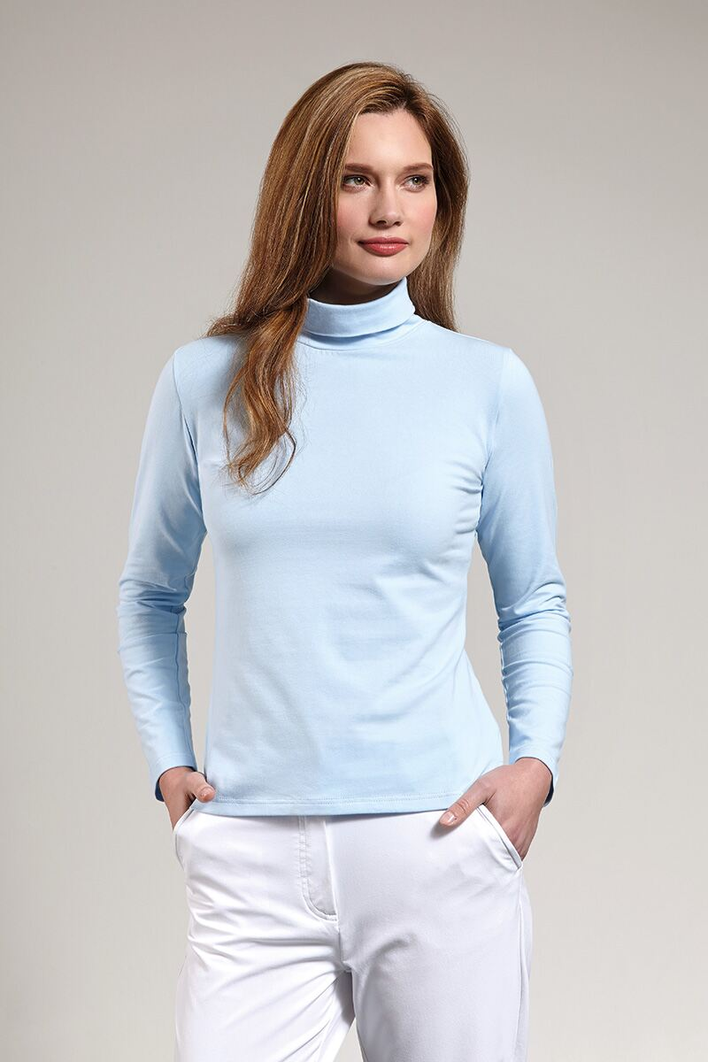Ladies Glenmuir Roll Neck Long Sleeve Cotton Golf Shirt
