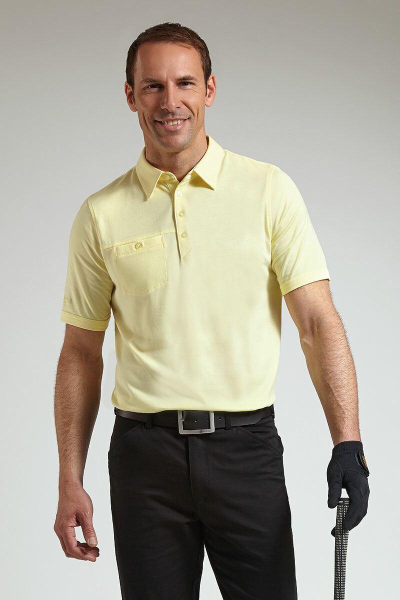 Mens glenmuir chest pocket golf polo shirt for Men s polo shirts with chest pocket