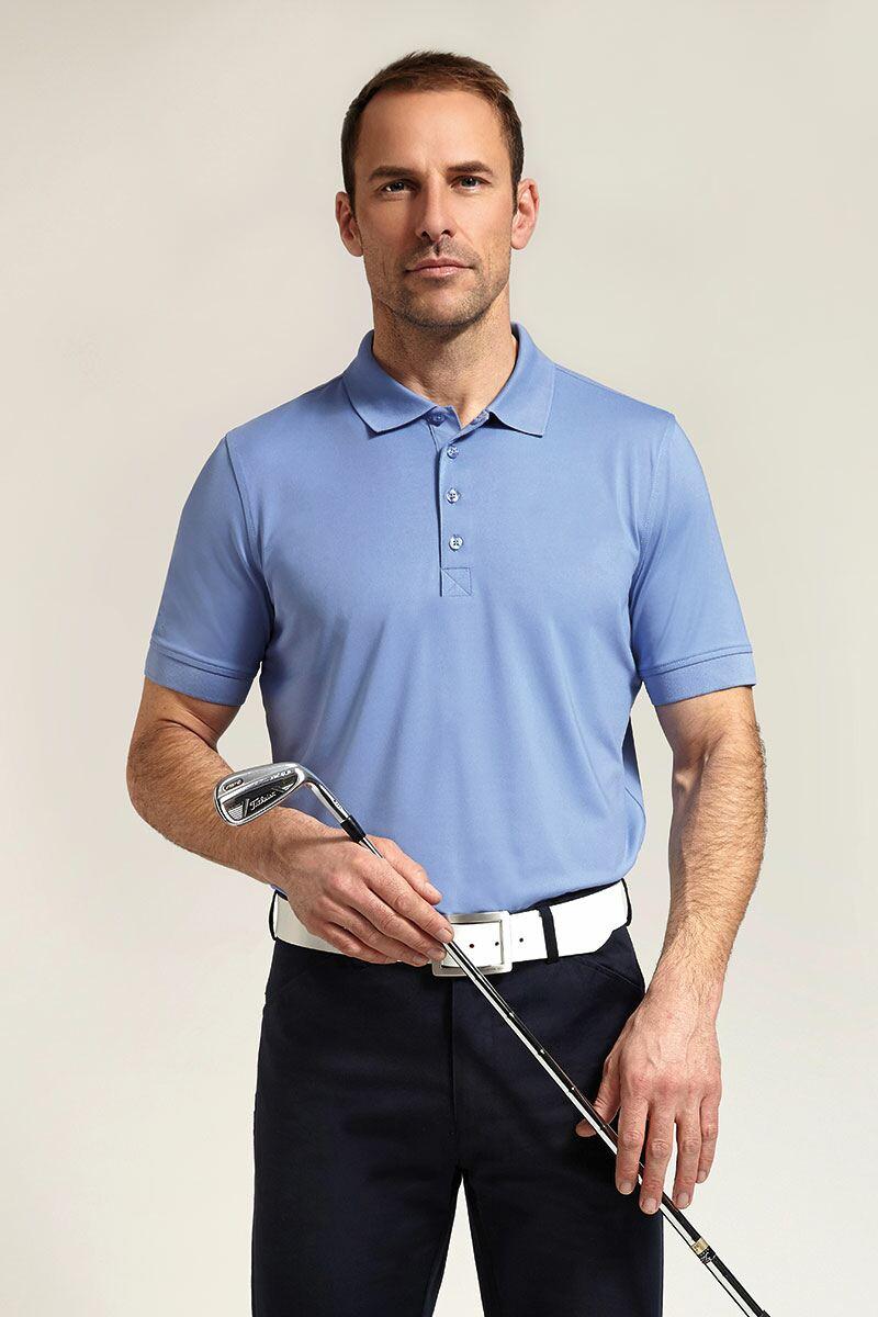 Mens glenmuir performance stretch golf polo shirt for Stretch polo shirt mens