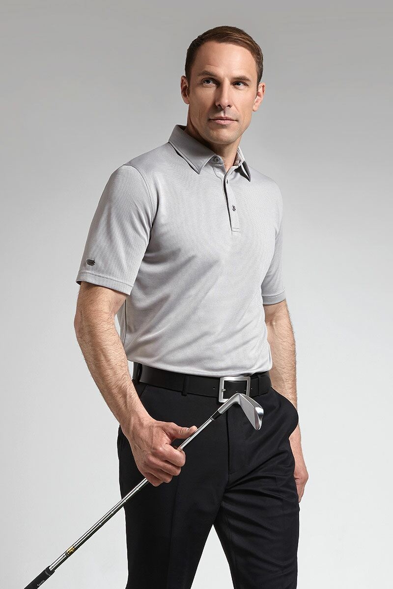 Glenmuir Mens Technical Bamboo Performance Golf Polo Shirt - Sale