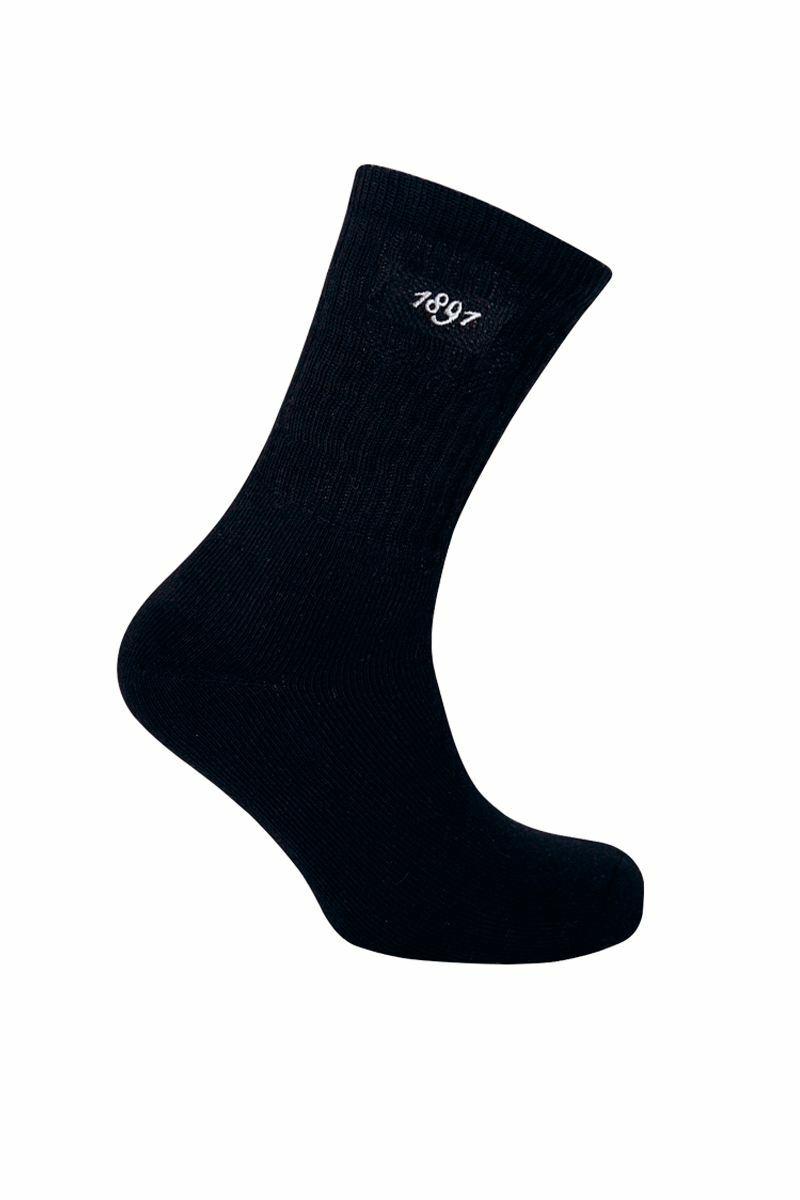 Mens 2 Pair Pack Crew Cotton Golf Socks