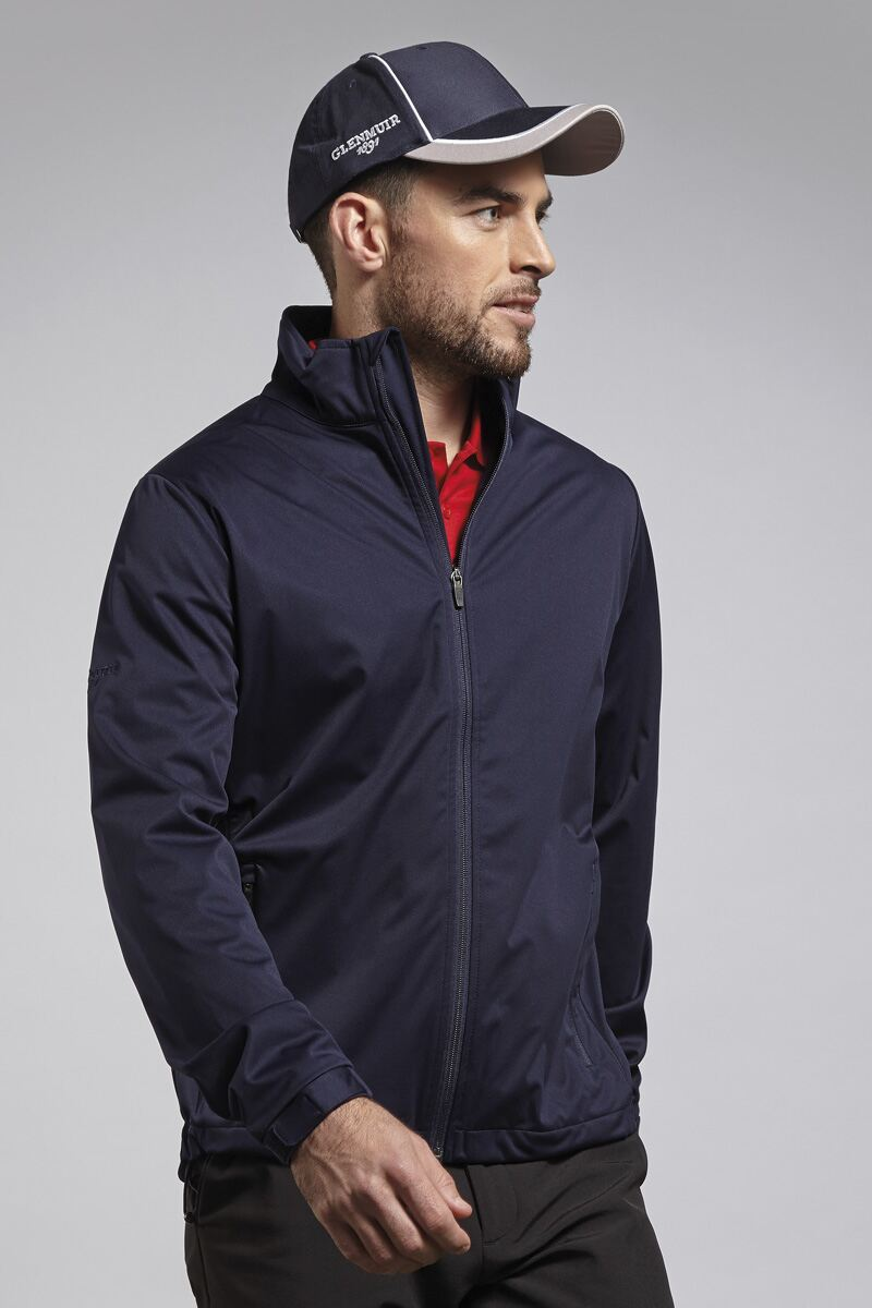Mens Zip Front Water Repellent Performance Golf Wind Jacket