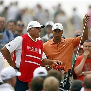 Golfer Tiger Woods wears Nike Golf apparel when he is playing on the golf course.