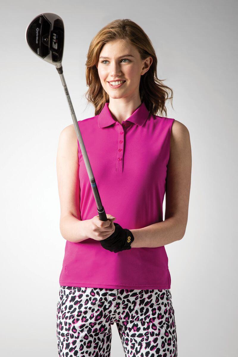 0fb3b0dc g.JENNA. Ladies Sleeveless Performance Pique Golf Polo Shirt
