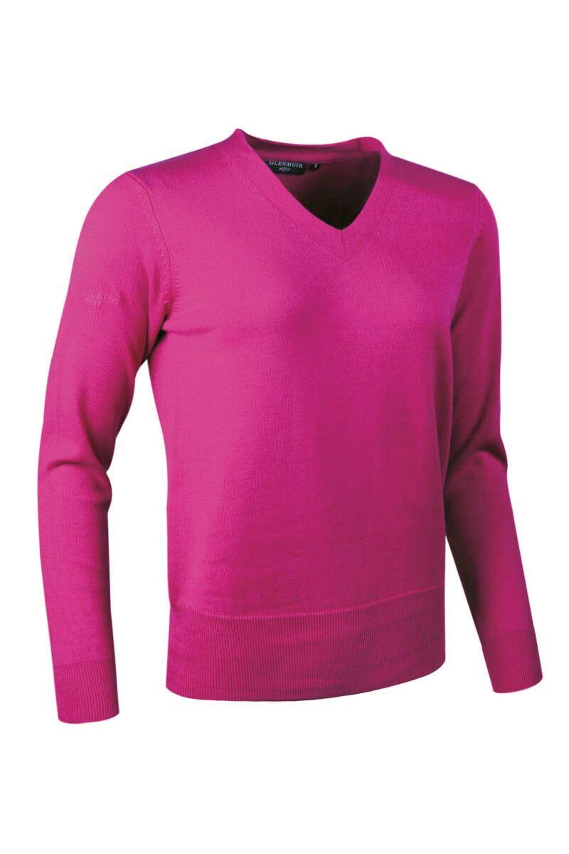 ladies glenmuir yasmin supersoft cotton v neck golf sweater sale