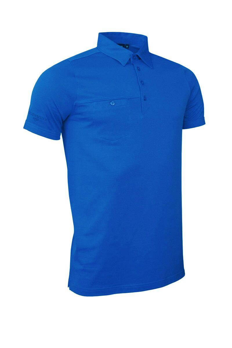 Glenmuir mens chest pocket golf polo shirt for Men s polo shirts with chest pocket