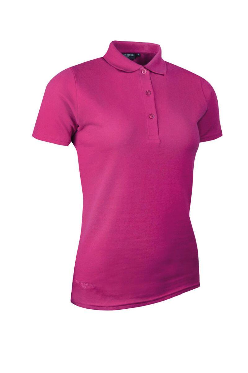 Ladies glenmuir cotton pique polo shirt for Ladies pique polo shirts