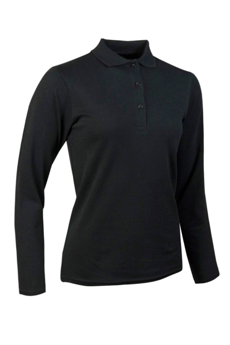 Ladies Glenmuir Long Sleeve Cotton Pique Polo Shirt