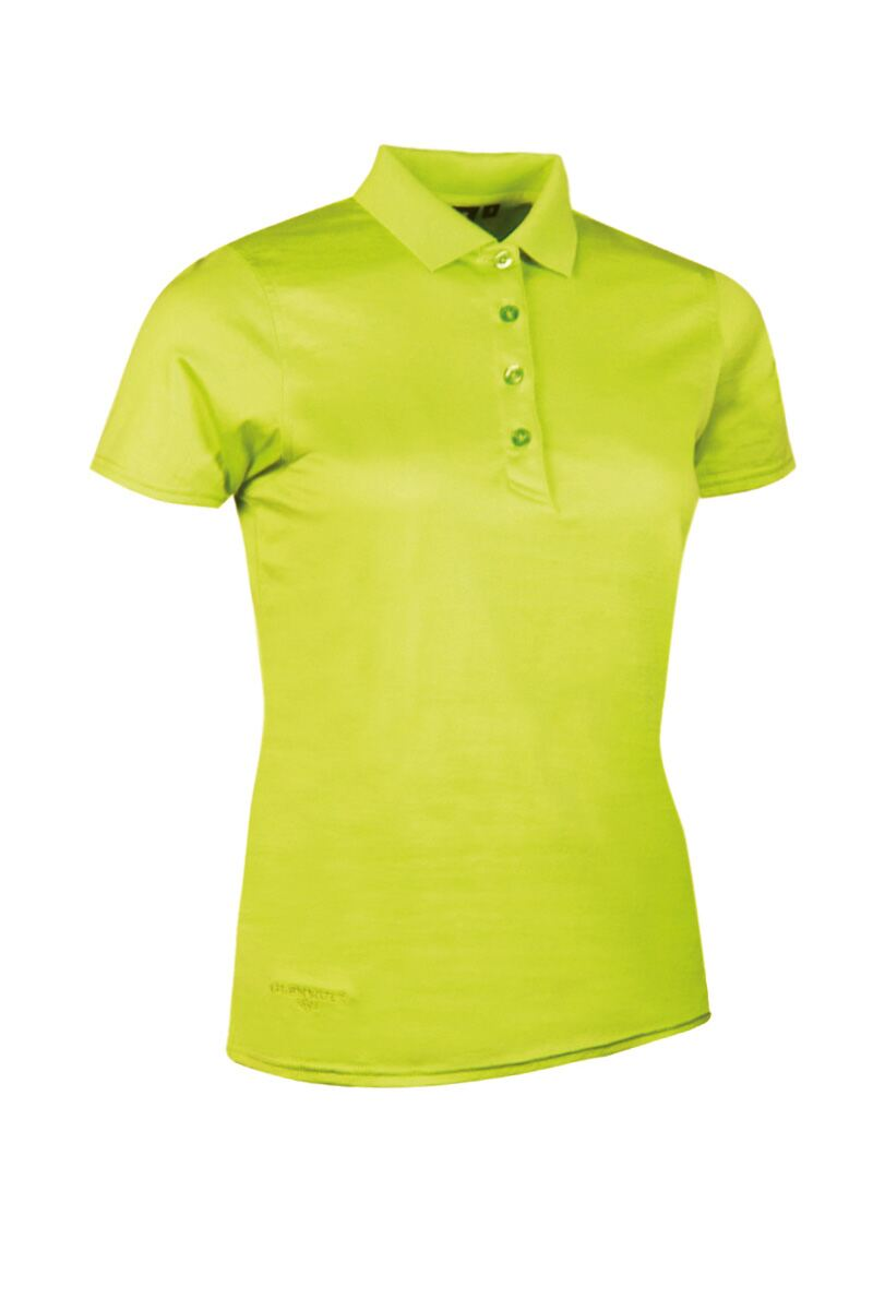 Ladies glenmuir michelle mercerised cotton shaped fit golf for Ladies cotton golf shirts