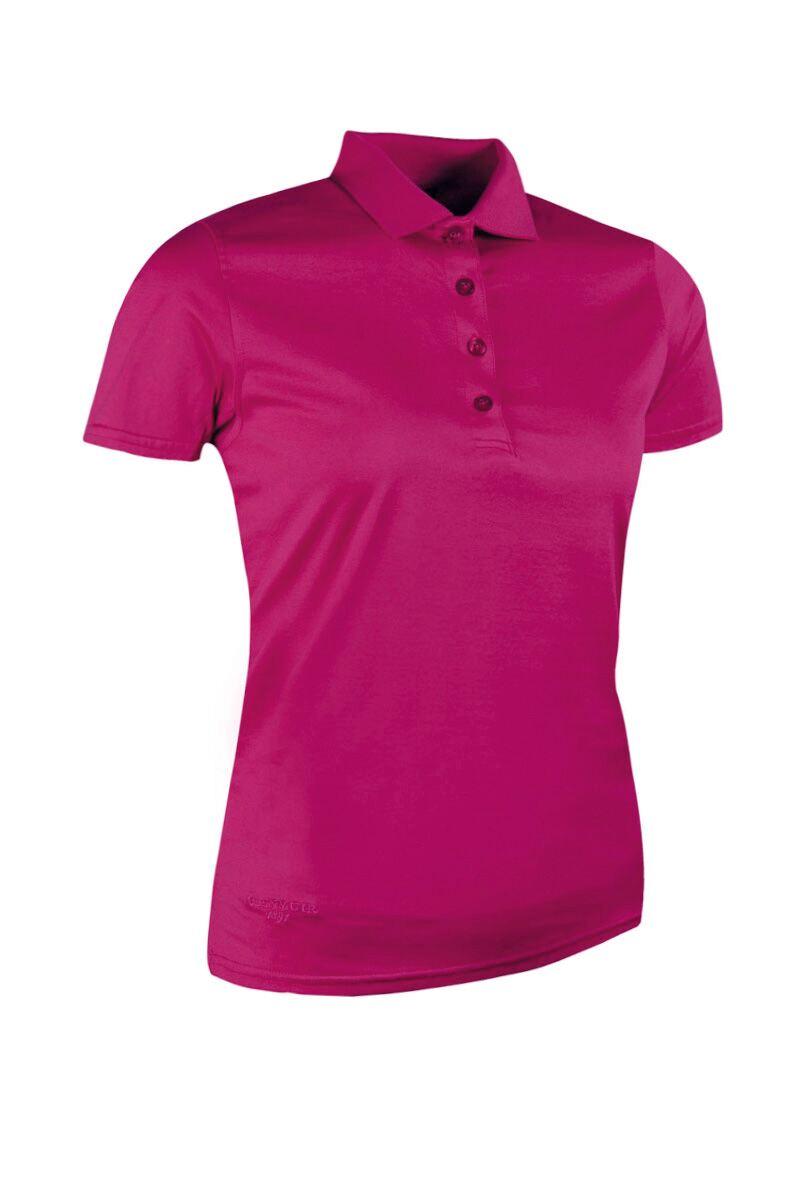 Ladies glenmuir plain mercerised cotton polo shirt for Ladies cotton golf shirts