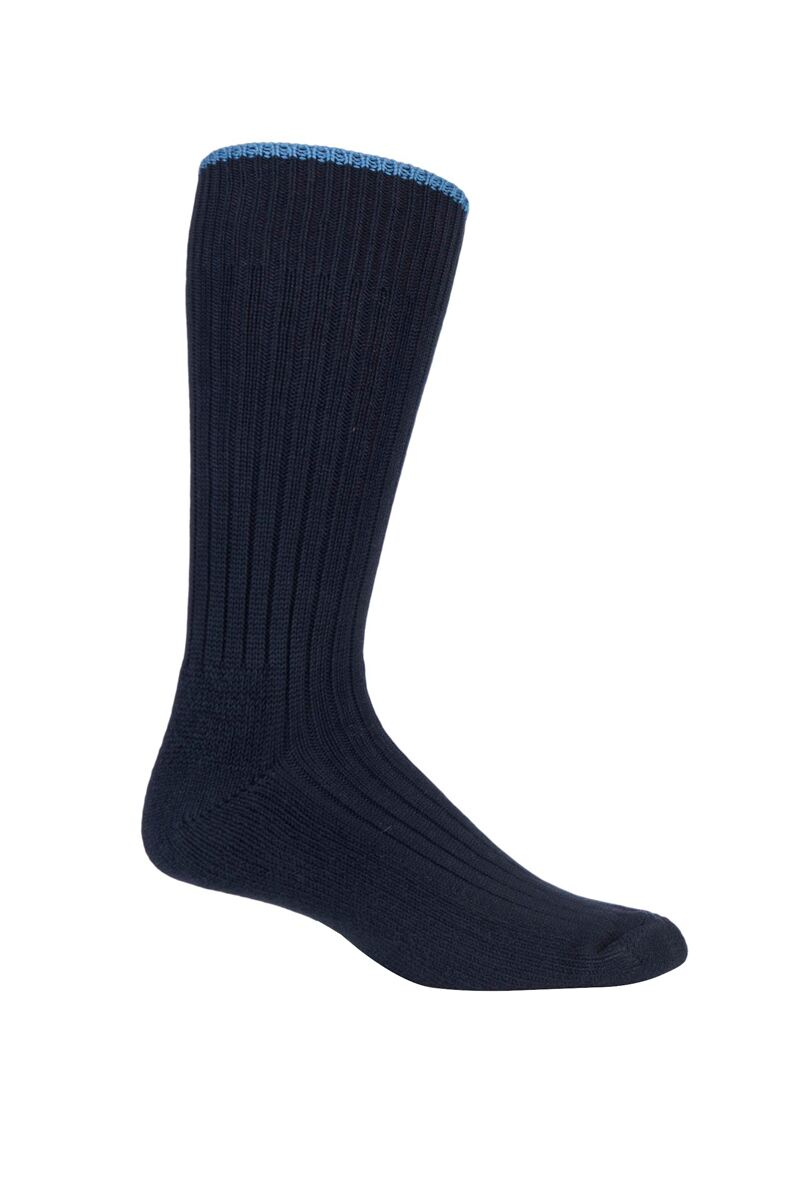 Mens Cotton Cushioned Tipped Golf Socks
