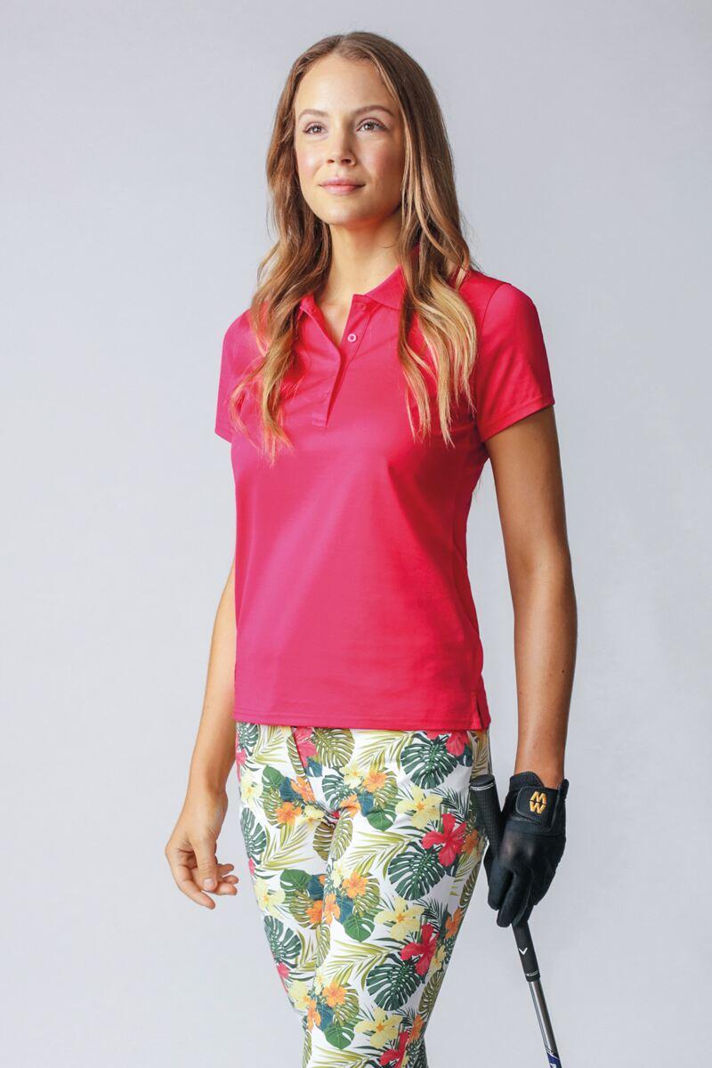 Ladies Plain Mercerised Cotton Golf Polo Shirt