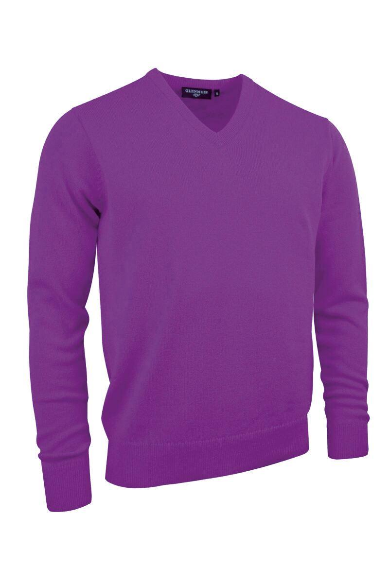 Glenmuir Mens V Neck Lambswool Golf Sweater