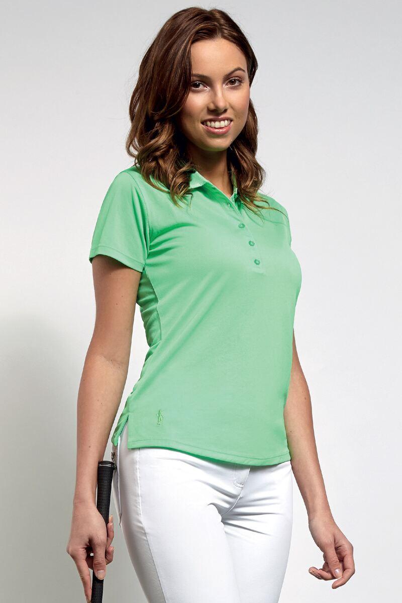 Ladies glenmuir performance pique golf polo shirt for Ladies pique polo shirts