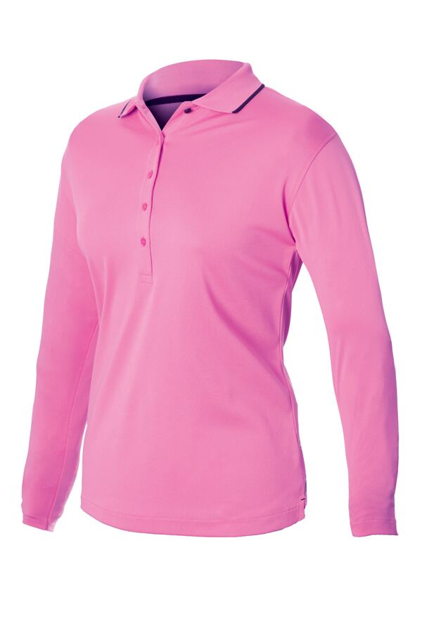 Dunlop Long Sleeve Polo Shirt Ladies