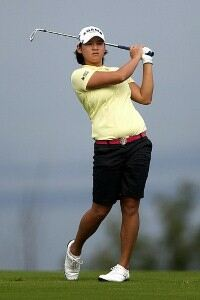 Yani Tseng switched golf apparel for makeup and evening attire.
