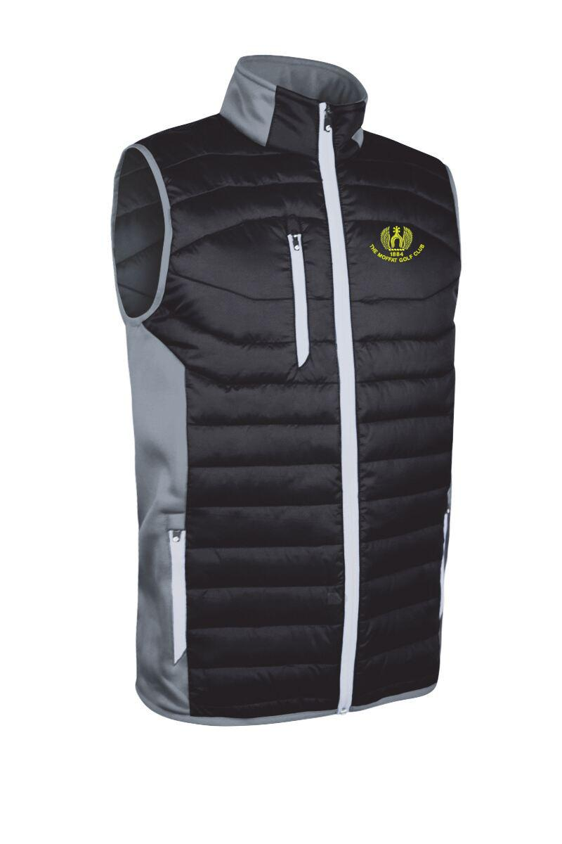 Mens Zip Front Padded Stretch Panel Performance Golf Gilet